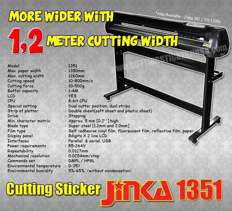 CUTTING STICKER jinka 1351