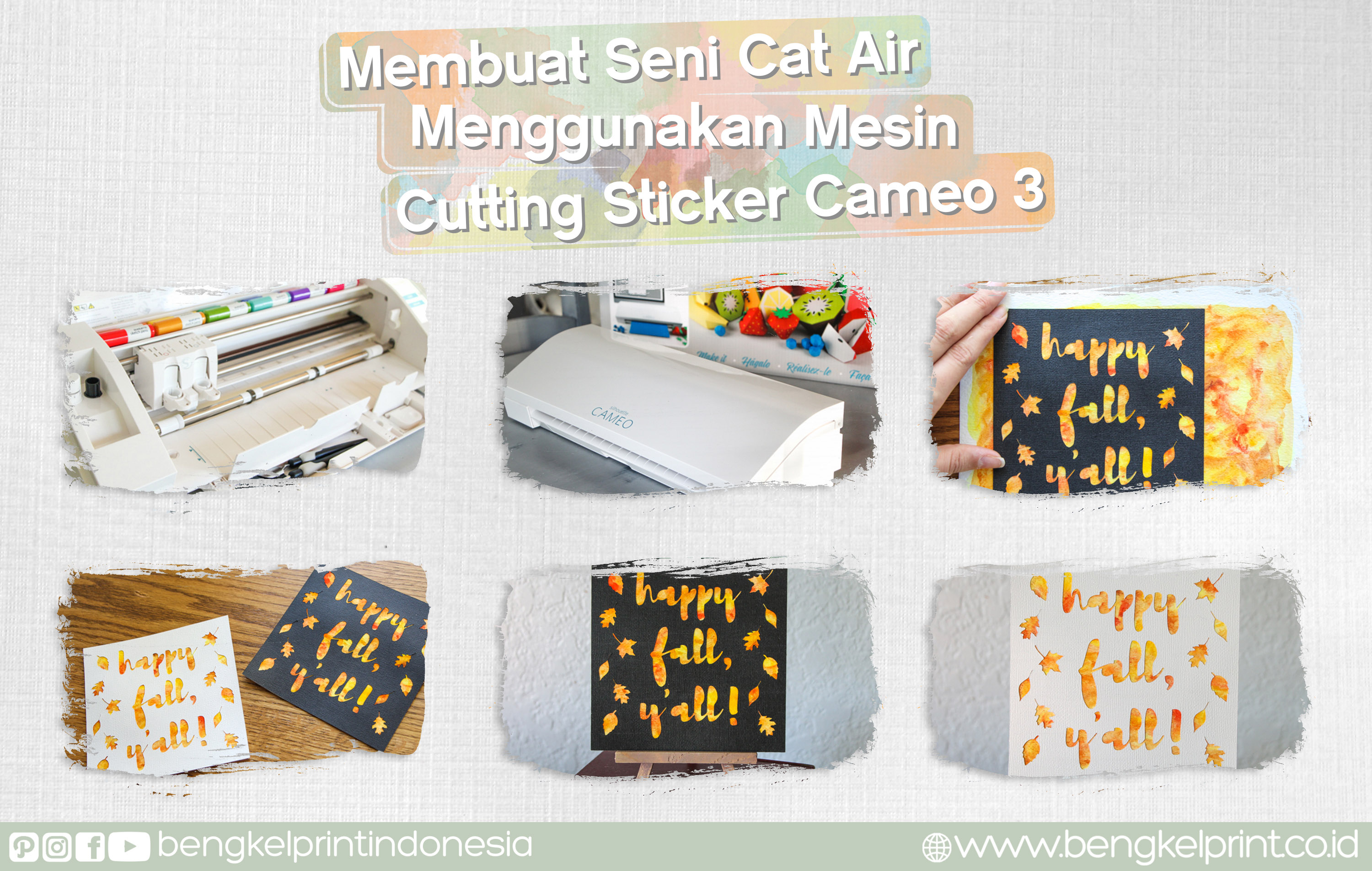 Membuat Seni Car Air Menggunakan Mesin Cutting Sticker CAMEO 3