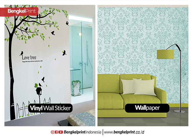 perbedaan wallpaper dan vinyl wall sticker dinding | harga,jual