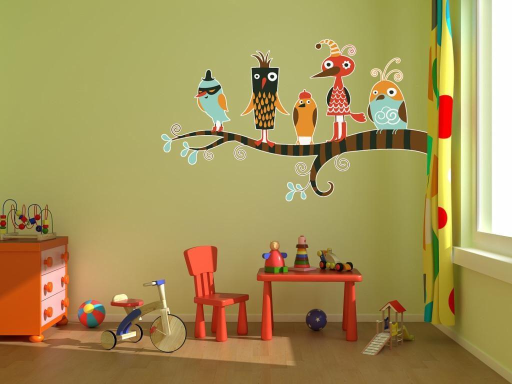 13 Inspirasi Vinyl Wall Sticker Untuk Ruangan Dalam Rumah Anda Karakter Ruang Bermain
