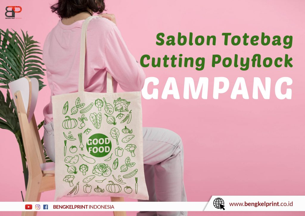 cutting totebag polyflock