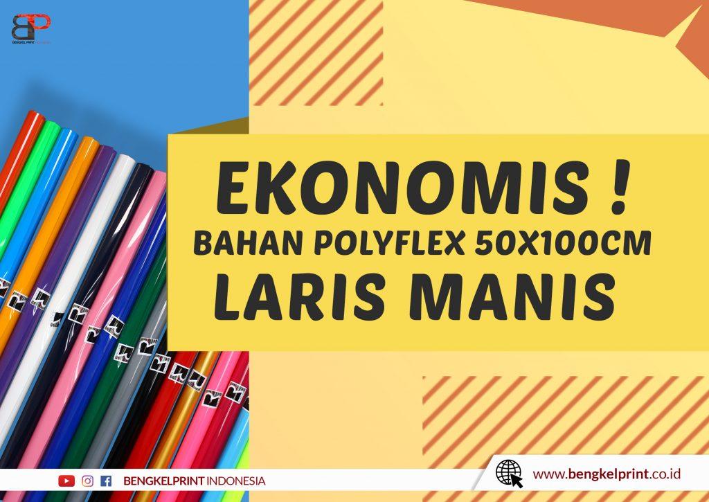 harga Bahan Polyflex 50X100 CM PU PVC Murah 2021